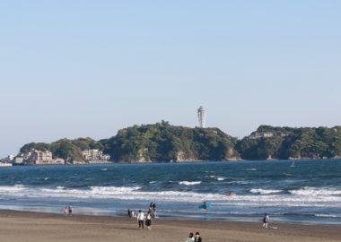 鵠沼海岸からの江ノ島
